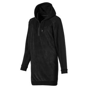 Thumbnail 1 of Downtown Long Sleeve Hooded Women's Dress, Cotton Black, medium