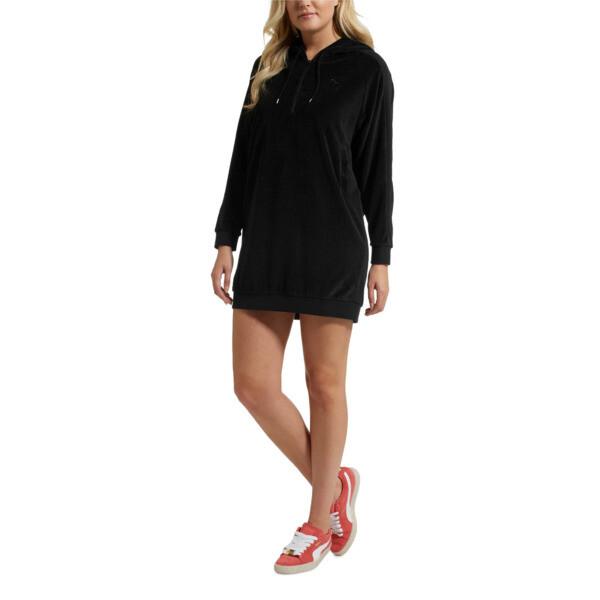 4bbeae41d6 Downtown Long Sleeve Hooded Women's Dress