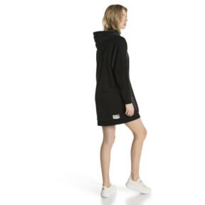 Thumbnail 3 of Downtown Long Sleeve Hooded Women's Dress, Cotton Black, medium