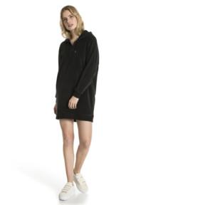 Thumbnail 5 of Downtown Long Sleeve Hooded Women's Dress, Cotton Black, medium