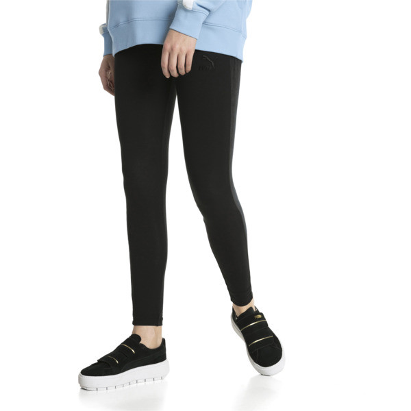 Downtown Women's Leggings, Cotton Black, large