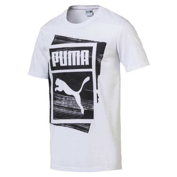 Graphic Brand Box T-Shirt, Puma White, large