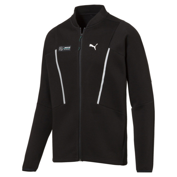MERCEDES AMG PETRONAS Men's Sweat Jacket, Puma Black, large