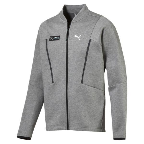 Mercedes AMG Petronas Men's Sweat Jacket, Medium Gray Heather, large