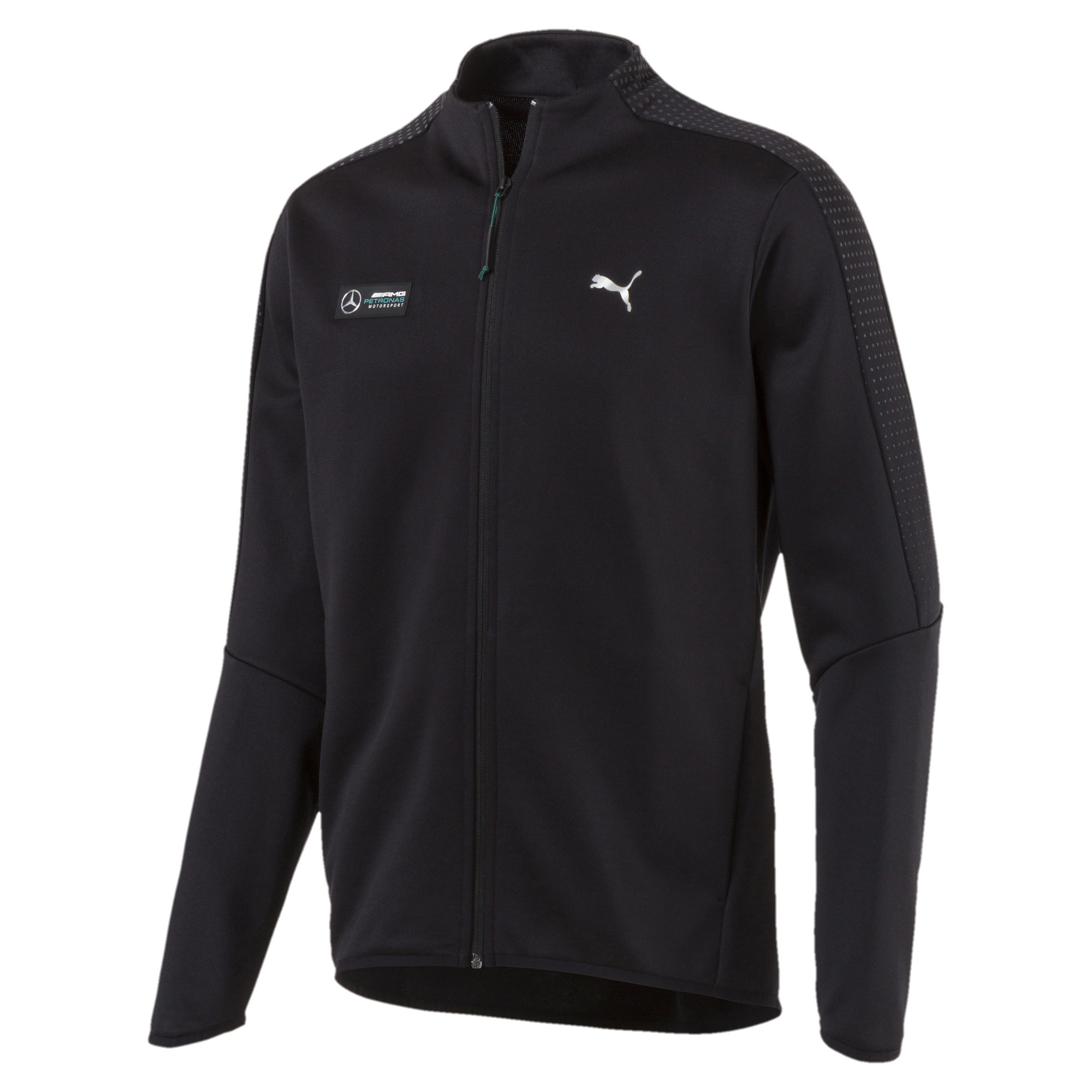 PUMA-Mercedes-AMG-Petronas-Men-039-s-T7-Track-Jacket-Men-Sweat-Auto thumbnail 3