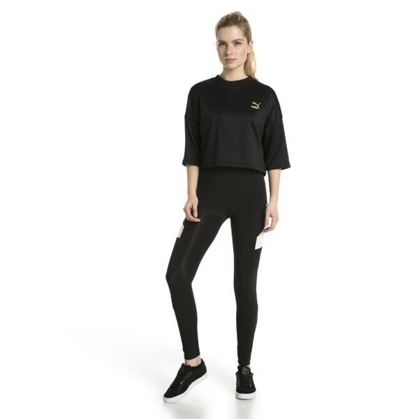 Retro Women's Crop Top, Puma Black, large