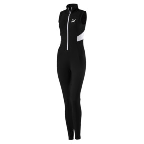 Thumbnail 1 of Retro Rib Overall Jumpsuit, Puma Black, medium
