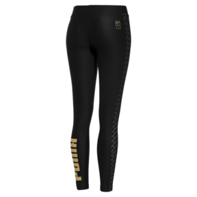 Thumbnail 2 of PUMA x BARBIE WOMEN'S LEGGINGS, Puma Black, medium-JPN