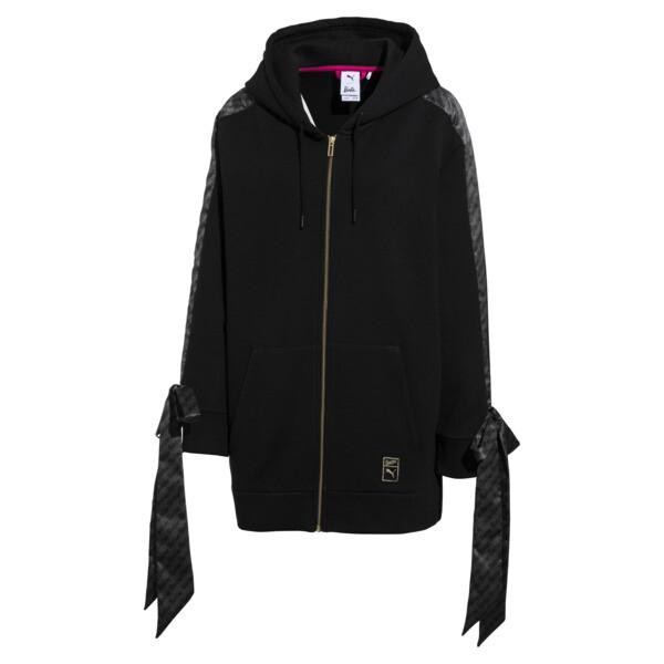 PUMA x BARBIE Zip-Up Women's Hoodie, Puma Black, large