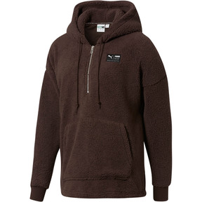 Thumbnail 1 of Downtown Sherpa Half Zip Men's Hoodie, Mol, medium
