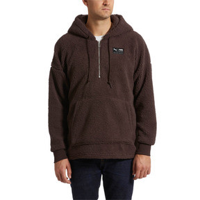 Thumbnail 2 of Downtown Sherpa Half Zip Men's Hoodie, Mol, medium