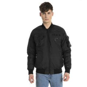 Thumbnail 2 of Pace Lab Zip-Up Down Men's Bomber, Puma Black, medium