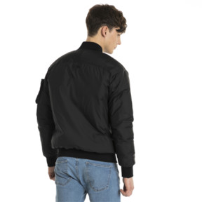 Thumbnail 3 of Pace Lab Zip-Up Down Men's Bomber, Puma Black, medium