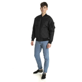 Thumbnail 5 of Pace Lab Zip-Up Down Men's Bomber, Puma Black, medium