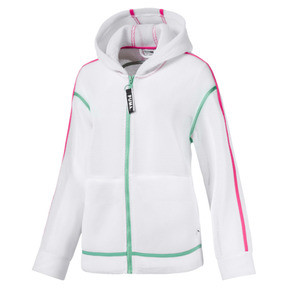 Thumbnail 1 of Chase Spacer Zip-Up Women's Hoodie, Puma White, medium