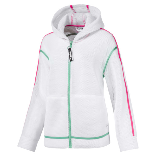 Chase Spacer Zip-Up Women's Hoodie, Puma White, large