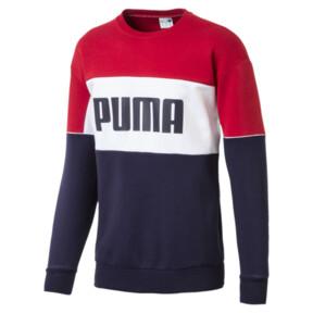 Thumbnail 1 of Retro Men's Crewneck Sweatshirt, Peacoat, medium
