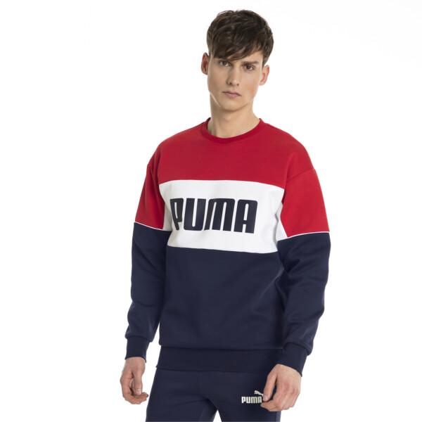 Retro Men's Crewneck Sweatshirt, Peacoat, large