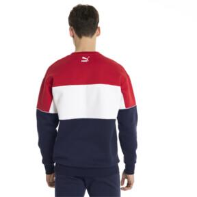 Thumbnail 3 of Retro Men's Crewneck Sweatshirt, Peacoat, medium