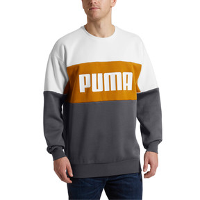 Thumbnail 2 of Retro Men's Crewneck Sweatshirt, Iron Gate, medium