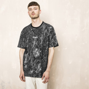 Thumbnail 2 of PUMA x OUTLAW MOSCOW TEE, Puma Black-AOP, medium-JPN