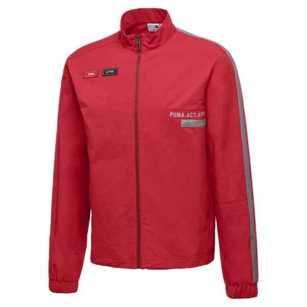PUMA x OUTLAW MOSCOW Zip-Up Men's Track Top, Ribbon Red, large