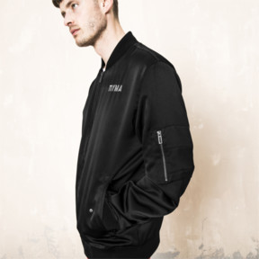 Thumbnail 6 of PUMA x OUTLAW MOSCOW Zip-Up Men's Bomber Jacket, Puma Black, medium