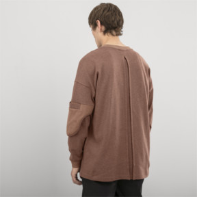 Thumbnail 3 of PUMA x HAN KJØBENHAVN Long Sleeve Men's Shirt, Almond Heather, medium