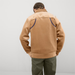 Thumbnail 3 of PUMA x HAN KJØBENHAVN Zip-Up Men's Bomber Jacket, Almond, medium