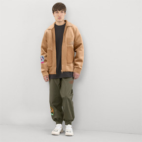 Thumbnail 5 of PUMA x HAN KJØBENHAVN Zip-Up Men's Bomber Jacket, Almond, medium