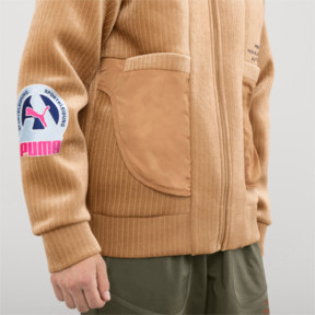 Thumbnail 6 of PUMA x HAN KJØBENHAVN Zip-Up Men's Bomber Jacket, Almond, medium