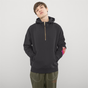 Thumbnail 2 of PUMA x HAN KJØBENHAVN Half Zip Hoodie, Phantom Black, medium