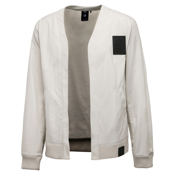 PUMA x XO Men's Bomber Jacket, Silver Birch, large