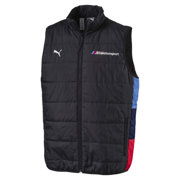 BMW M Motorsport Men's Padded Vest, Anthracite, large