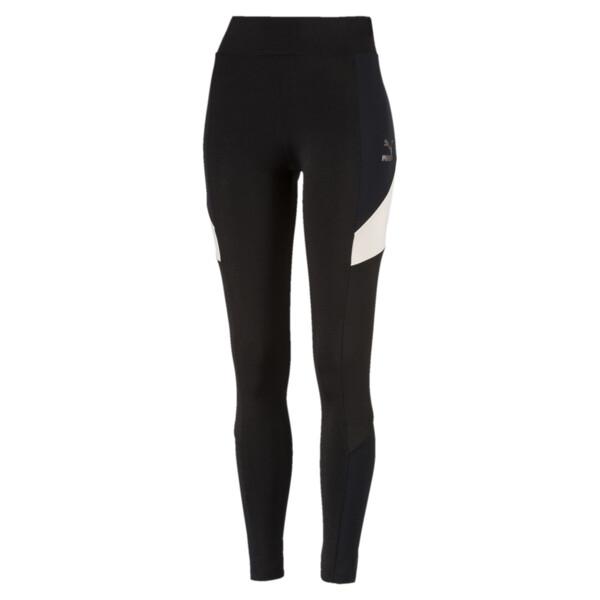 Retro Women's Leggings, Puma Black, large