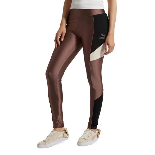 Retro Women's Leggings, Peppercorn, large