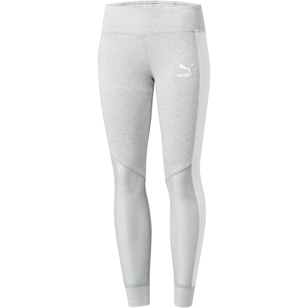 Invisible T7 Leggings, Light Gray Heather-White, large