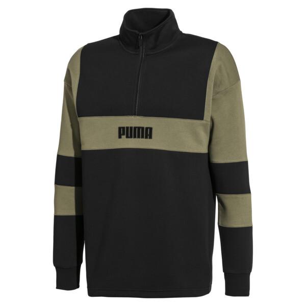 PUMA x BIG SEAN Half Zip Men's Pullover, Puma Black, large