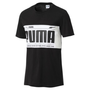 Thumbnail 1 of Graphic Logo Block Men's Tee, Cotton Black-1, medium