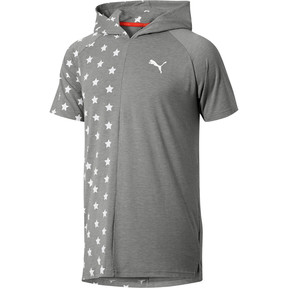 Thumbnail 1 of Fourth of July Star T-Shirt, Medium Gray Heather, medium