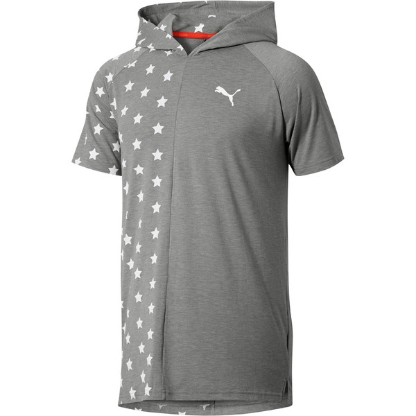 Fourth of July Star T-Shirt, Medium Gray Heather, large