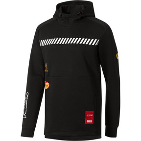 Thumbnail 1 of Scuderia Ferrari Street Men's Hoodie, Puma Black, medium