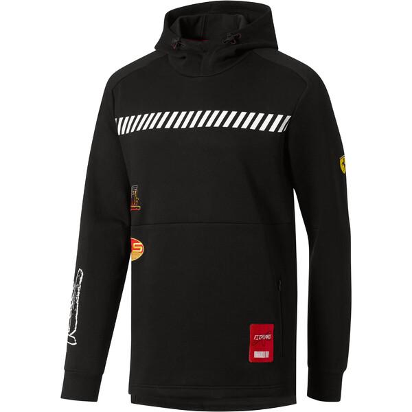 Scuderia Ferrari Street Men's Hoodie, Puma Black, large