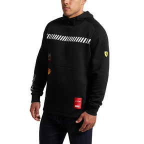 Thumbnail 2 of Scuderia Ferrari Street Men's Hoodie, Puma Black, medium