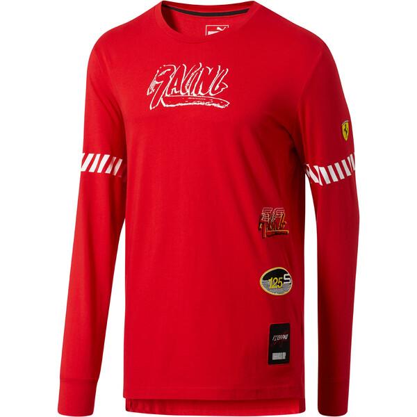 Scuderia Ferrari Street LS T-Shirt, Rosso Corsa, large