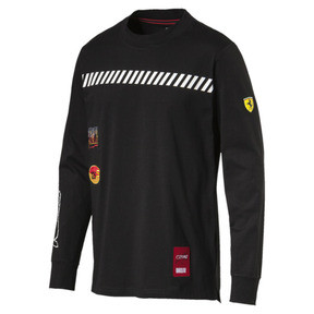 Thumbnail 1 of Scuderia Ferrari Street LS T-Shirt, Puma Black, medium