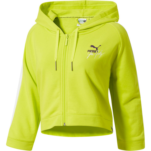 PUMA x YES JULZ FZ HOODIE, Nrgy Yellow, large