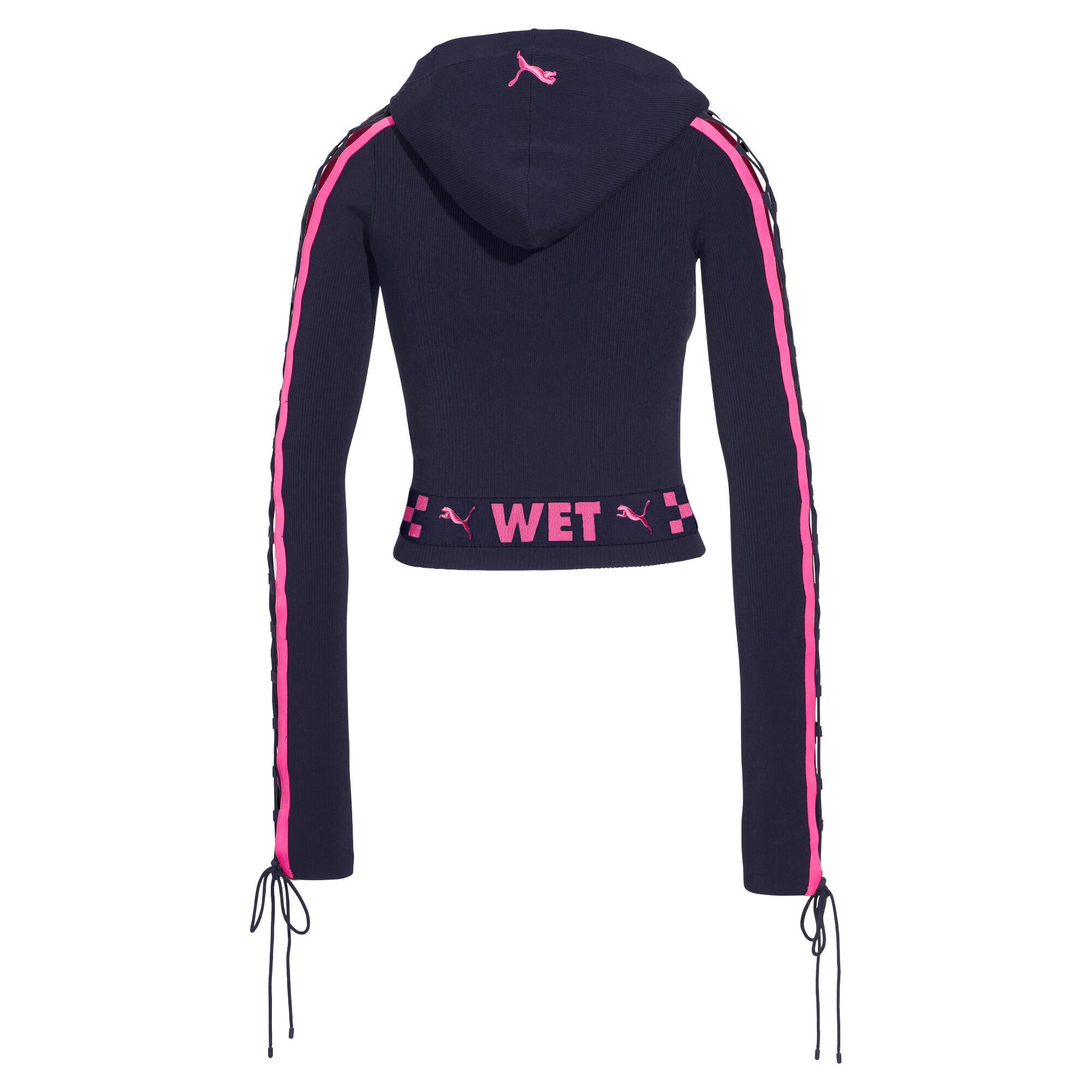 Image Puma FENTY Women's Laced Sleeve Sweater Zip Hoodie #4
