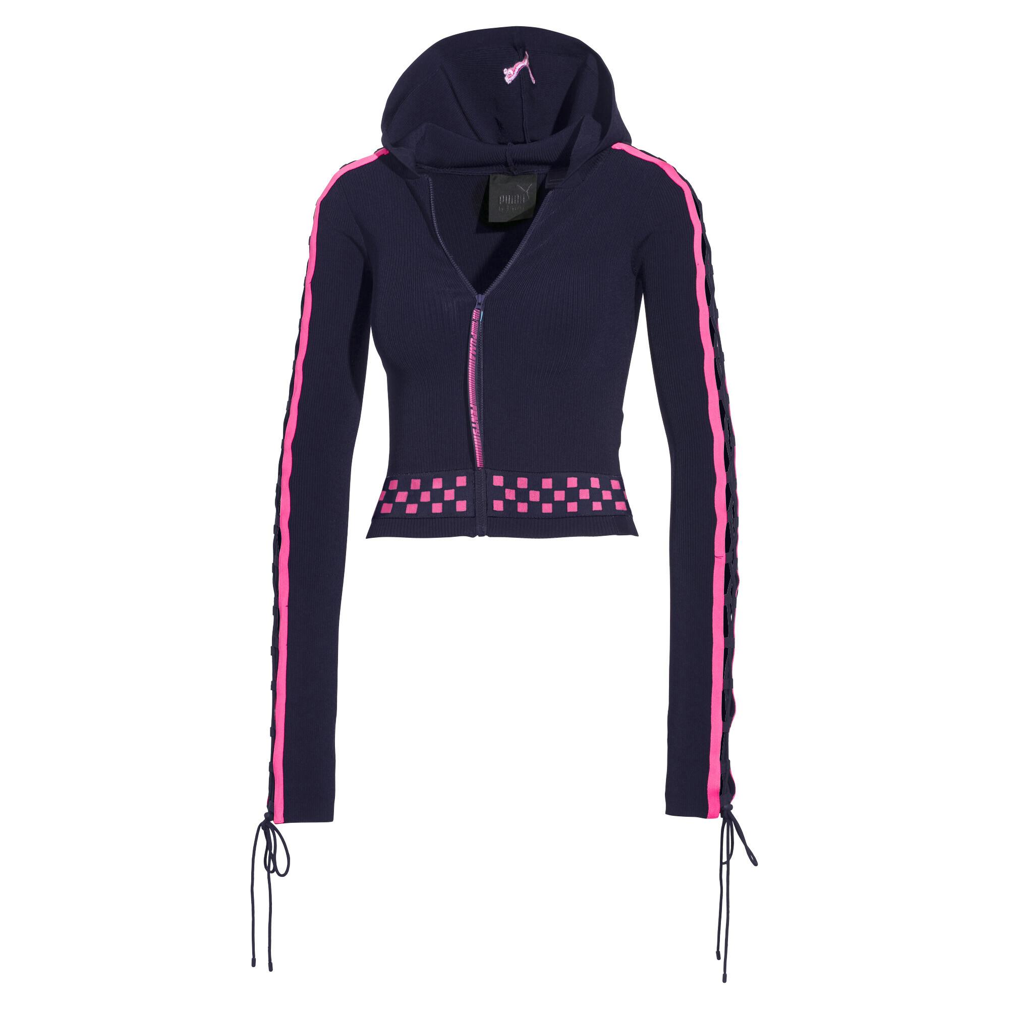 Image Puma FENTY Women's Laced Sleeve Sweater Zip Hoodie #1
