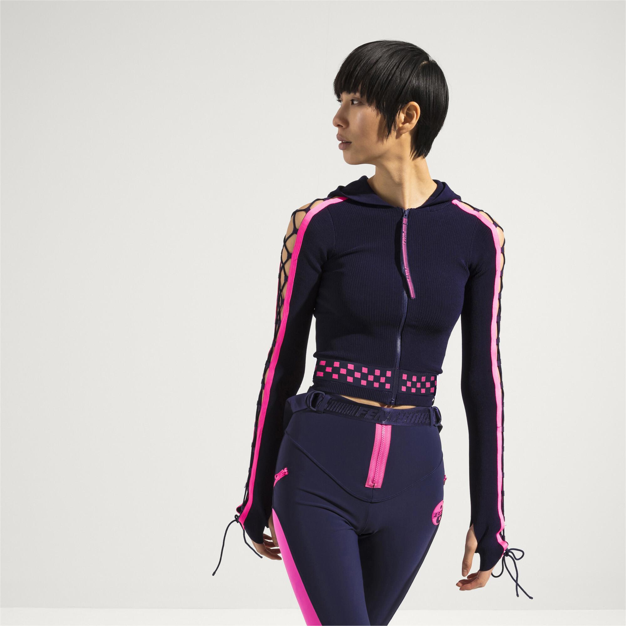 Image Puma FENTY Women's Laced Sleeve Sweater Zip Hoodie #2